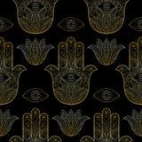 Χέρι της Fatima Seamless Pattern Στοκ φωτογραφία με δικαίωμα ελεύθερης χρήσης