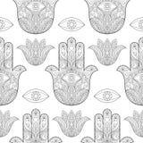 Χέρι της Fatima Seamless Pattern Στοκ Εικόνες