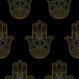 Χέρι της Fatima Seamless Pattern διανυσματική απεικόνιση