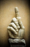 Χέρι του αυτοκράτορα Constantine, Capitoline, Ρώμη Στοκ Εικόνα