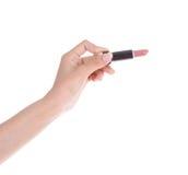 Χέρι το κραγιόν που απομονώνεται με στο λευκό Στοκ Εικόνα