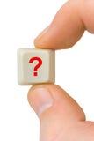 χέρι υπολογιστών κουμπιών Στοκ εικόνα με δικαίωμα ελεύθερης χρήσης