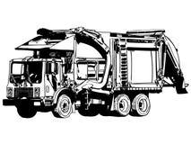 Χέρι φορτηγών απορριμάτων που σύρεται, διάνυσμα, Eps, λογότυπο, εικονίδιο, crafteroks, απεικόνιση σκιαγραφιών για τις διαφορετικέ απεικόνιση αποθεμάτων
