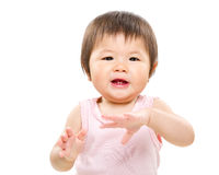 Χέρι χειροκροτήματος μωρών Στοκ Εικόνες