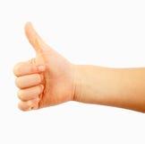 χέρι χειρονομίας παιδιών Στοκ φωτογραφίες με δικαίωμα ελεύθερης χρήσης