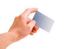 χέρι χρεώσεων καρτών Στοκ Εικόνα