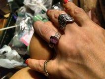Χέρι ‹δαχτυλιδιών bearings†στοκ φωτογραφία