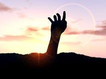 Χέρι 23 νεκροταφείων Στοκ εικόνα με δικαίωμα ελεύθερης χρήσης