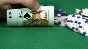 Χέρι Blackjack απόθεμα βίντεο