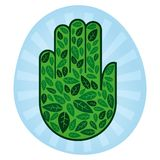χέρι eco Στοκ εικόνες με δικαίωμα ελεύθερης χρήσης