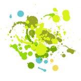 Χέρι Grunge - γίνοντα στοιχεία πτώσης μελανιού διανυσματική απεικόνιση