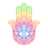 Χέρι Hamsa της Fatima Amulet Στοκ Εικόνες