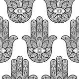 Χέρι Hamsa της Fatima Seamless Pattern απεικόνιση αποθεμάτων