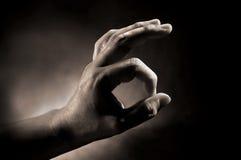 χέρι oke Στοκ φωτογραφία με δικαίωμα ελεύθερης χρήσης