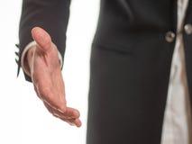 Χέρι Outstretched στην υποδοχή Στοκ Εικόνα