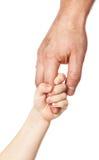 χέρι s πατέρων Στοκ Εικόνες