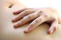 χέρι tummy Στοκ φωτογραφία με δικαίωμα ελεύθερης χρήσης
