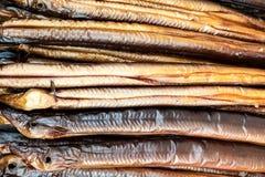 χέλια που καπνίζονται Στοκ φωτογραφία με δικαίωμα ελεύθερης χρήσης