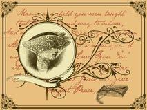 χήρα επιστολών διανυσματική απεικόνιση