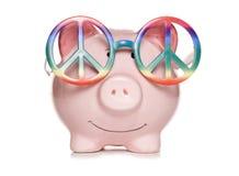 Χίπηδων τράπεζα που αποκόπτει piggy Στοκ Εικόνες