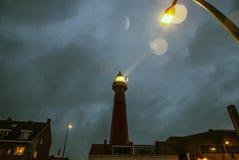 ΧΑΓΗ, ΚΑΤΩ ΧΏΡΕΣ - 18 ΟΚΤΩΒΡΊΟΥ: Το Hoge van IJmuiden Lighthouse IJmuiden, Χάγη, Κάτω Χώρες Στοκ φωτογραφία με δικαίωμα ελεύθερης χρήσης
