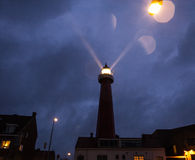 ΧΑΓΗ, ΚΑΤΩ ΧΏΡΕΣ - 18 ΟΚΤΩΒΡΊΟΥ: Το Hoge van IJmuiden Lighthouse IJmuiden, Χάγη, Κάτω Χώρες Στοκ εικόνες με δικαίωμα ελεύθερης χρήσης