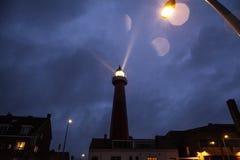 ΧΑΓΗ, ΚΑΤΩ ΧΏΡΕΣ - 18 ΟΚΤΩΒΡΊΟΥ: Το Hoge van IJmuiden Lighthouse IJmuiden, Χάγη, Κάτω Χώρες Στοκ εικόνα με δικαίωμα ελεύθερης χρήσης