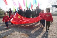 Χαιρετίστε την τελετή σημαιών Στοκ εικόνες με δικαίωμα ελεύθερης χρήσης