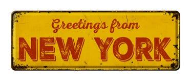 Χαιρετισμοί από τη Νέα Υόρκη στοκ φωτογραφίες με δικαίωμα ελεύθερης χρήσης