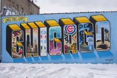 Χαιρετισμοί από το Σικάγο στοκ εικόνες