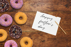 Χαιρετισμοί ημέρας πατέρων ` s Στοκ Φωτογραφία