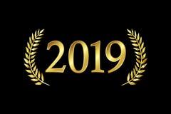 2019 χαιρετισμοί καλής χρονιάς Χριστουγέννων διανυσματική απεικόνιση