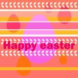 Χαιρετισμοί Πάσχας και oval αυγών στοκ εικόνες με δικαίωμα ελεύθερης χρήσης