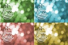 χαιρετισμοί Πάσχας καρτών &e Στοκ Φωτογραφίες