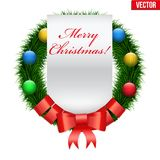 Χαιρετισμοί στεφανιών Χριστουγέννων Στοκ Φωτογραφίες