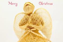 Χαιρετισμοί της εποχής αγγέλου Χαρούμενα Χριστούγεννας Στοκ Φωτογραφία