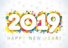 2019 χαιρετισμοί Χριστουγέννων καλής χρονιάς απεικόνιση αποθεμάτων