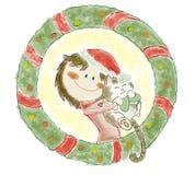 χαιρετισμοί Χριστουγέννων καρτών Στοκ φωτογραφία με δικαίωμα ελεύθερης χρήσης