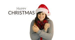 Χαιρετισμοί Χριστουγέννων με ένα φιλί 4k απόθεμα βίντεο