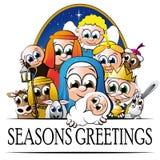 Χαιρετισμοί Χριστουγέννων Στοκ Εικόνες