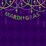 Χαιρετισμοί gras της Mardi διανυσματική απεικόνιση