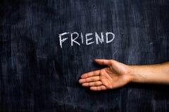 Χαιρετισμός ενός φίλου στοκ φωτογραφίες