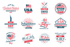 Χαιρετισμός ημέρας της ανεξαρτησίας Ιουλίου τέταρτος, ενωμένος δηλωμένος απεικόνιση αποθεμάτων