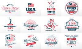 Χαιρετισμός ημέρας της ανεξαρτησίας Ιουλίου τέταρτος, ενωμένος δηλωμένος ελεύθερη απεικόνιση δικαιώματος