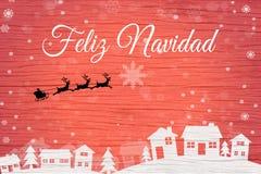 Χαιρετισμός κάρτα-ES Χριστουγέννων διανυσματική απεικόνιση