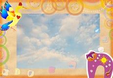 χαιρετισμός καρτών αρχικό&sigm απεικόνιση αποθεμάτων