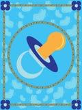 χαιρετισμός καρτών μωρών Στοκ φωτογραφία με δικαίωμα ελεύθερης χρήσης