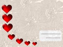 χαιρετισμός καρτών Στοκ Εικόνες