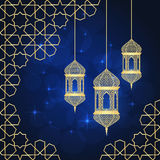 χαιρετισμός καρτών ramadan Στοκ Εικόνες