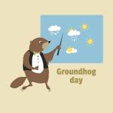 χαιρετισμός καλή χρονιά καρτών του 2007 Ημέρα Groundhog Στοκ εικόνες με δικαίωμα ελεύθερης χρήσης